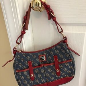 Dooney and Bourke denim and leather purse